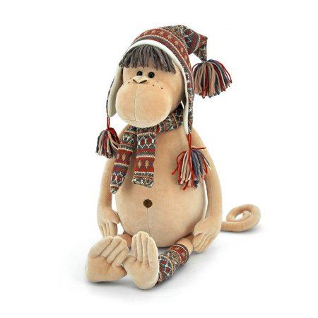 Orange Toys plüss nagykereskedés - Plüss Irma a majom sapkában sállal 25cm Orange Toys