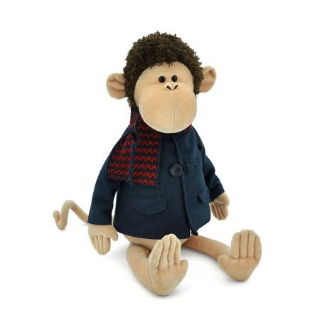 Orange Toys plüss nagykereskedés - Plüss kicsi Garry a majom zakóban 25cm Orange Toys