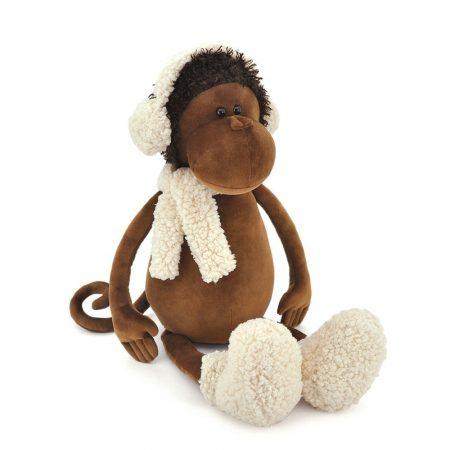 Orange toys plüss figurák - Plüss Valerie a majom fülvédőben 25cm Orange Toys