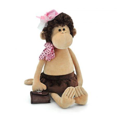 Orange Toys Plüss figurák - Plüss Lizzie a majom tüllel díszített rózsaszín kalapban 25cm