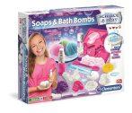 Szappanok és fürdőbombák tudományos kísérletező játék Clementoni