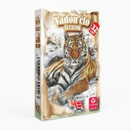 Vadon élő állatok 4 az 1-ben kártyajáték -  Cartamundi