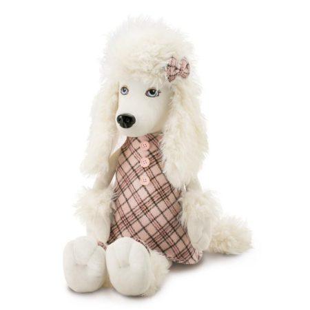 Lora the Poodle plüss Kutya kockás ruhában Orange Toys nagy