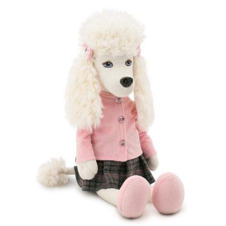 Julie the Poodle plüss kutya Rózsaszín felsőben szoknyával Orange Toys kicsi