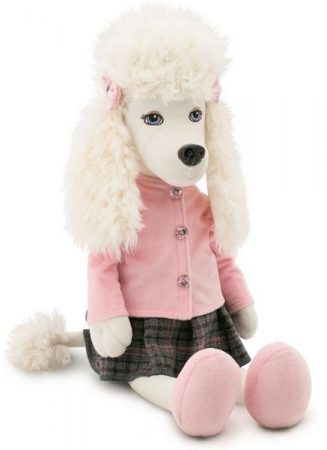Julie the Poodle plüss kutya Rózsaszín felsőben szoknyával Orange Toys nagy