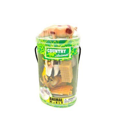 Farm állatok műanyag figurák 10 db
