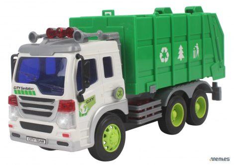 Kukásautó műanyag zöld színben 1:16