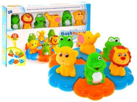 Állatfigurás spriccelős fürdőjáték gyerekeknek