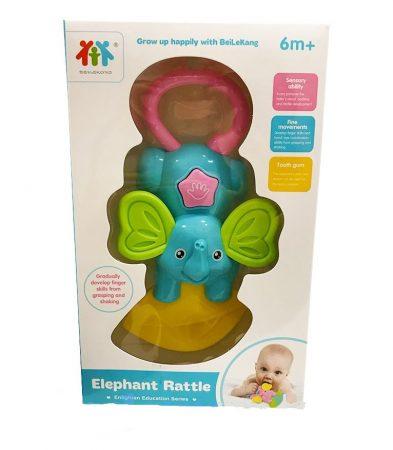 Csörgő babáknak elefántos kék