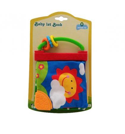 Puha bébi könyv csörgővel