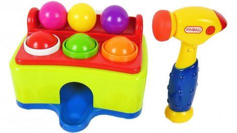 Készségfejlesztő babáknak zenélő kalapáló játék