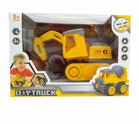 Diy Truck Játék Szerelős jármű lánctalpas markoló
