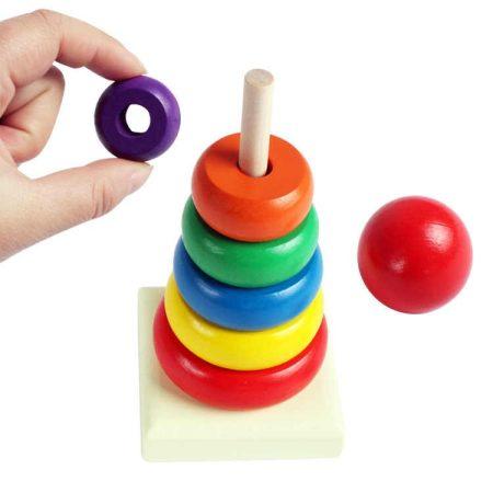 Fa montesszori készségfejlesztő játék