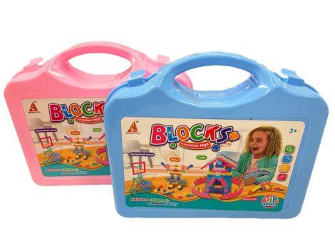 Meglepetés Kreativ építő játék bőröndben Hwaxing Toys