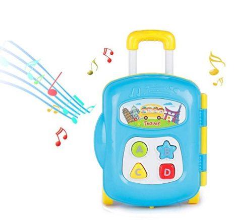 Zenélő baba játék - bőrönd