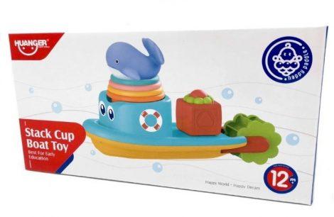 Stack Cup Boat Toy Hajós fürdőjáték Huanger