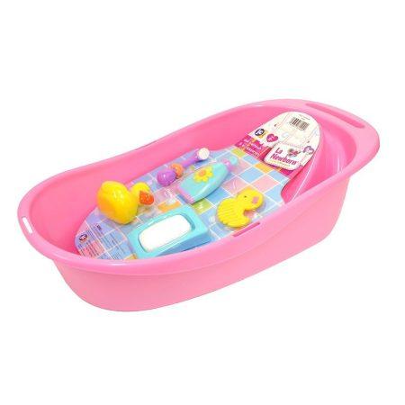 Berenguer fürdetőkád 5 tartozékkal játékbabához