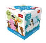 Állatok puzzle 60 db-os kocka dobozban Trefl
