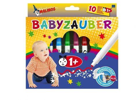 Malinos mosható Baby filc 10 db-os