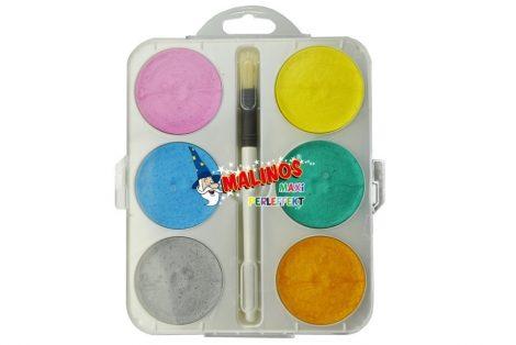 Malinos Glitteres óriás vízfesték 6 színnel