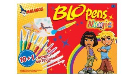 Blopens festékszóró készlet Magic set 10 szín,1 Mágikus toll, 6 sablon