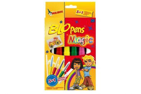 Blopens festékszóró készlet Magic set 5 szín,1 Mágikus toll, 8 sablon