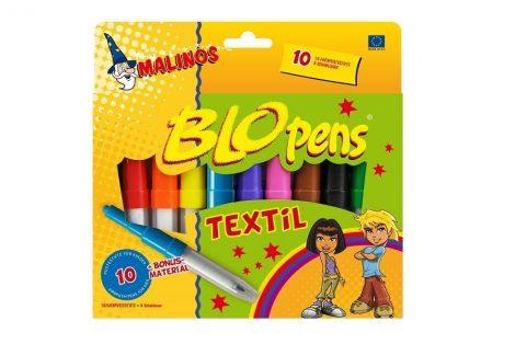 Blopens festékszórós textilfesték 10 db-os +8 sablon