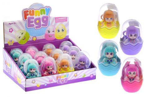 Funny Egg Játékbaba tojásban 4 féle