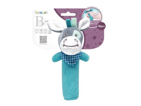 Plüss Szamár baba játék csörgő 0 hónapos kortól Funmuch Baby Toy