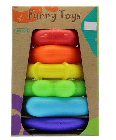 Funny Toys Bébi montessori torony karikákkal