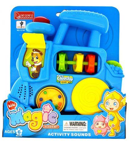 Zenélő játékvonat babáknak