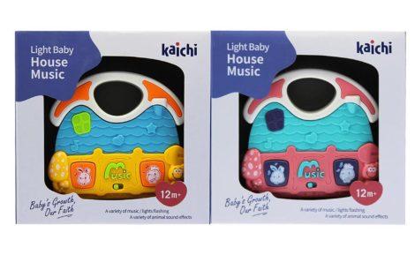 Zenélő ház babajáték