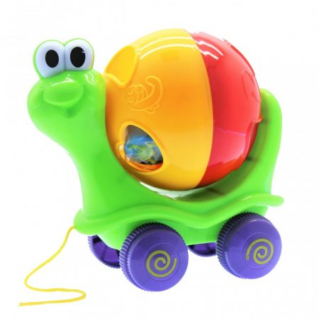 Formabedobó csiga húzós bébi játék