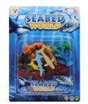 Műanyag tengeri állat figura szett 12 db-os