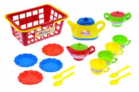 Játék étkészlet bevásárló kosárban
