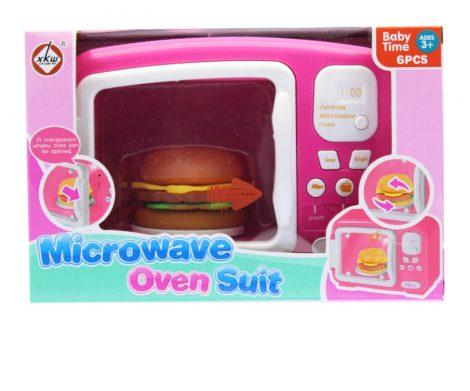 Játék mikrosütő hamburgerrel