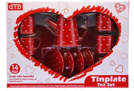 Tin Plate tea szett fém játék edénykészlet