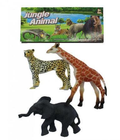 Jungle Animal Játék állat figura 3 db-os szett