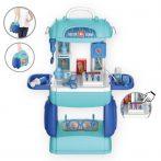 Mobile Hospital Toy - Összeszerelhető játék orvosi készlet bőröndben
