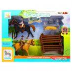 Játék lovas készlet, ló, lovas kiegészítőkkel