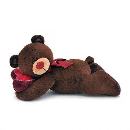 Plüss Choco a maci fekvő alvó 20cm Orange Toys