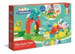 Baby interaktív színes kis-vonat szett farm kiegészítőkkel