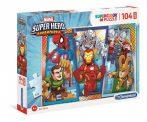 SUPERHERO Adventures - Puzzle 104 db MAXI - Clementoni