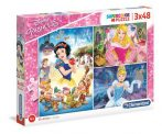 Disney hercegnők - Puzzle 3x48 db - Clementoni