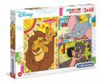 Disney klasszikusok - Puzzle 3x48 db - Clementoni