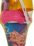 Homokozó szett lányoknak Barbie sellős vödörrel és vár formával