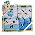 Mickey egér baba ajándékszett kisfiúknak