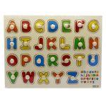 Fa fogantyús ki-berakó játék ABC betűivel