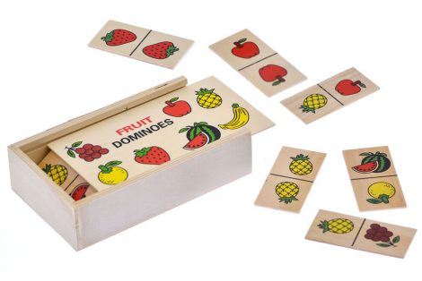Gyümölcs képes fa dominó játék