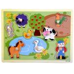 Fa puzzle kirakó-berakó farmos vagy állatos